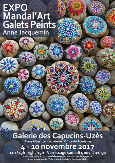 Mandal 39 Art Et Galets Peints Anne Jacquemin Office Municipal De La Culture D 39 Uz S
